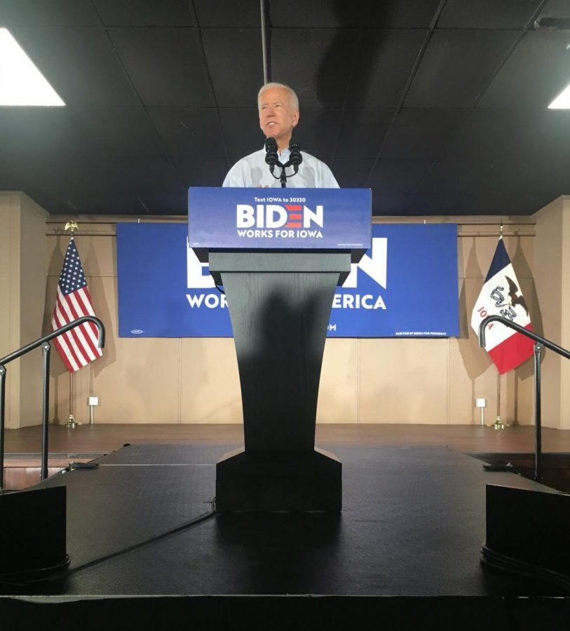 Joe Biden visits Grass Wagon in Council Bluffs on July 17.