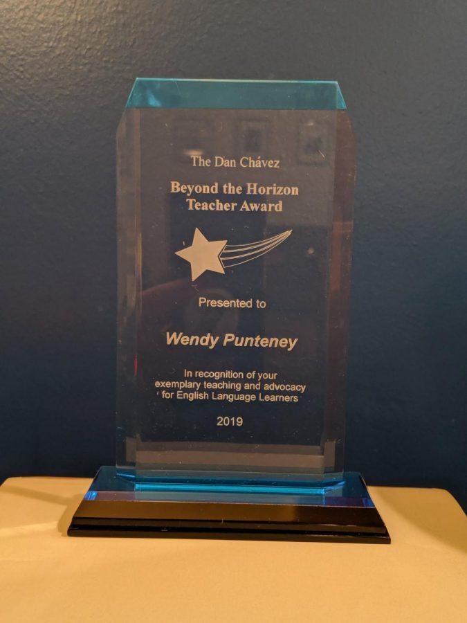 The Dan Chavez Beyond the Horizon Teacher award was awarded to ELL teacher Wendy Punteney.