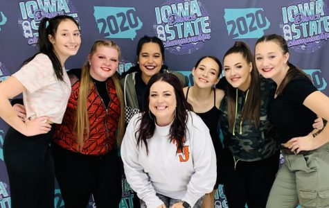 Dance Coach Michaela Patterson and TJ's six soloists. Left to Right: Kaya Markusan, Aubreianna Flanagan, Dajanay Rodriguez, Jayde Kraft, Jeanette Rice, Hailey Watts.
