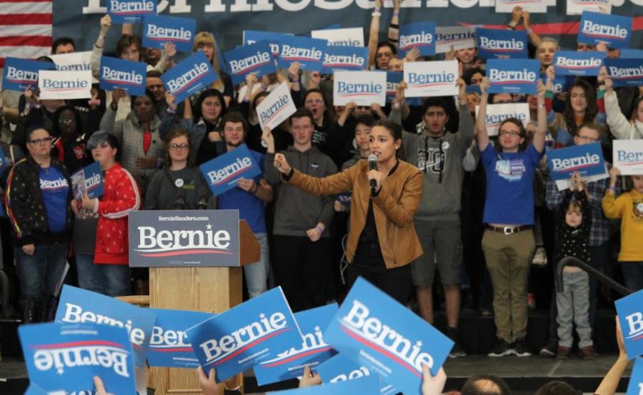 Senator Bernie Sanders came to Iowa Westerns campus with NY Alexandria Ocasio-Cortez on November 8, 2019 to stump for the Democratic nomination.