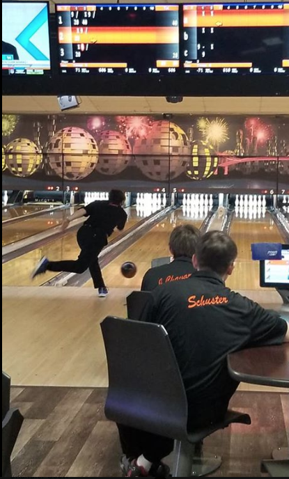 Chandler Scott attempting to get a strike