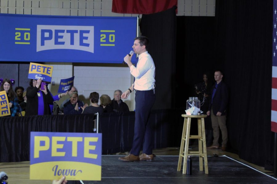 Presidential+hopeful+Pete+Buttigieg+visits+Wilson+Middle+School+on+January+18%2C+2020.