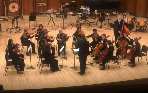 Thomas Jefferson freshman Hailey Carlson preforming with students from schools around Iowa at the BOCH Festival on January 25, 2020.
