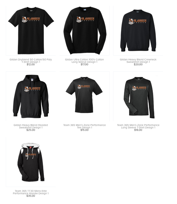 New boys soccer merch