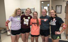 From left to right, Ashlie Knecht, Alysyn Knecht, Regan Gant, Morgan Gant, and Akaysha Cole. Ashlie, Alysyn, and Akaysha are TJ 2020 graduates and Morgan is a TJ 2019 graduate.