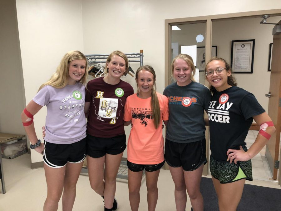 From left to right, Ashlie Knecht, Alysyn Knecht, Regan Gant, Morgan Gant, and Akaysha Cole. Ashlie, Alysyn, and Akaysha are TJ 2020 graduates and Morgan is a TJ 2019 graduate.