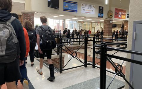 Hallways after school during covid