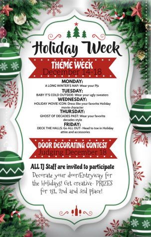 Holiday Spirit Week Calendar