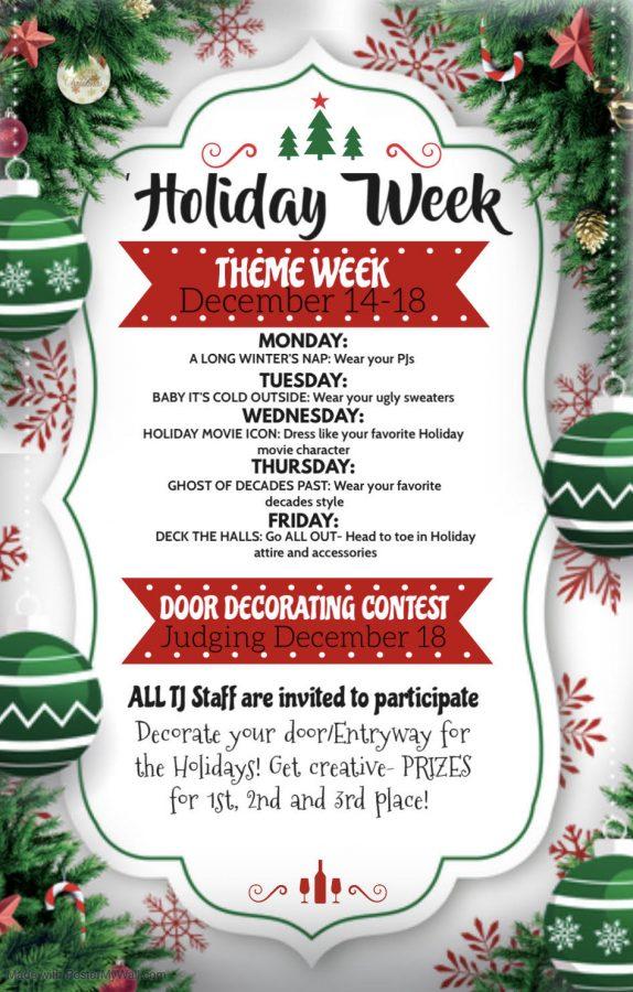 Holiday+Spirit+Week+Calendar
