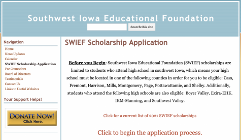 The SWIEF scholarship is now available for seniors and is open until March 15th.