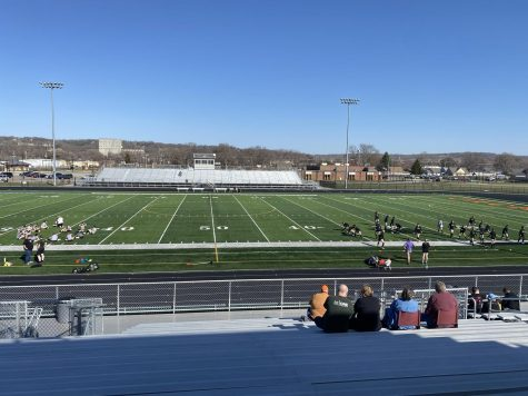 Thomas Jefferson girls soccer (right, black jersey) had a scrimmage against St. Albert at the Gale Wickersham Athletic Complex on March 29, 2021.