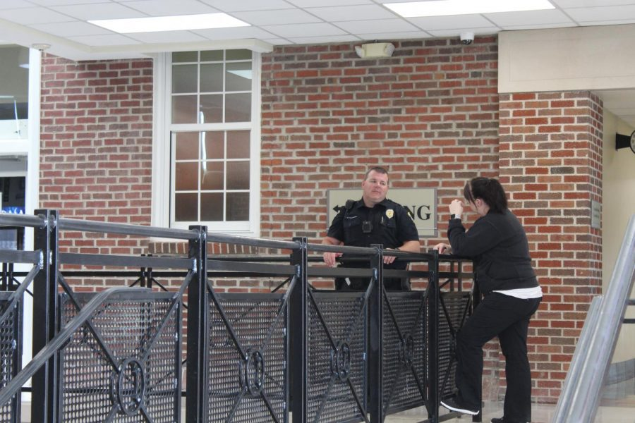 One way the school tries to curb fights is by having our SRO  and other adults visible during passing periods.